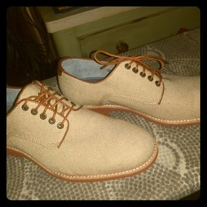 Johnston and Murphy size 9 beige canvas lace-ups